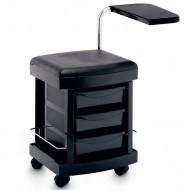 Педикюрные тележки, столы и тумбы с УФ-блоками